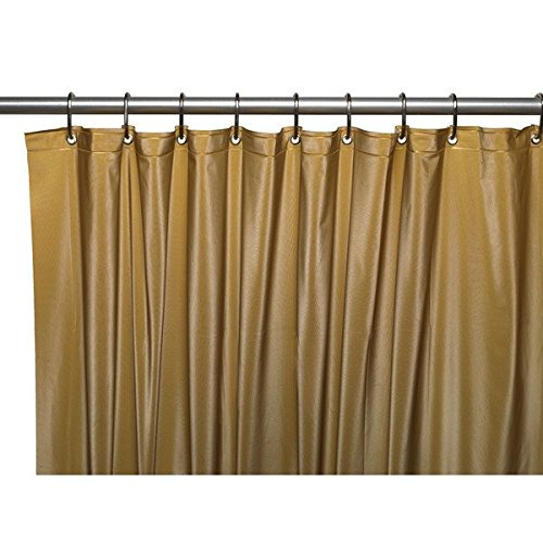 United Linens Shower Curtain Liner Gold 70x72 PEVA Mildew Free Resistant Mold Resistant Eco Friendly Vinyl No Chemical Odor High quality liner