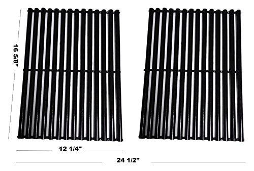Fiesta Cooking Grills (Relishfire Porcelain Steel Gas Grill Cooking Grid/Cooking Grates, Replacement for Centro, Charbroil, Front Avenue, Fiesta, Kenmore, Kirkland, Kmart, Master Chef, and Thermos, Set of 2)