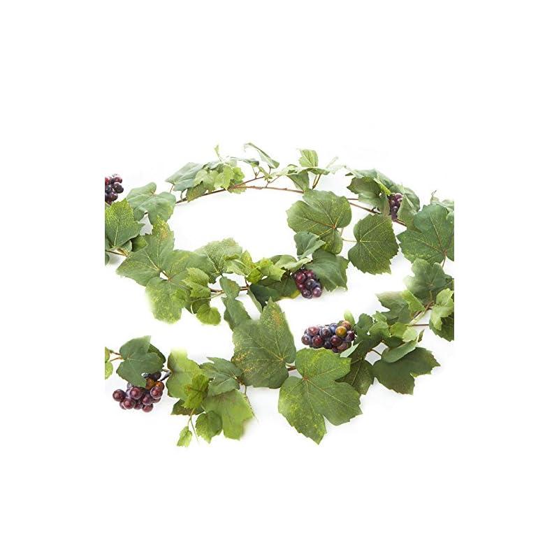 silk flower arrangements artificial grape leaf and grape cluster garland