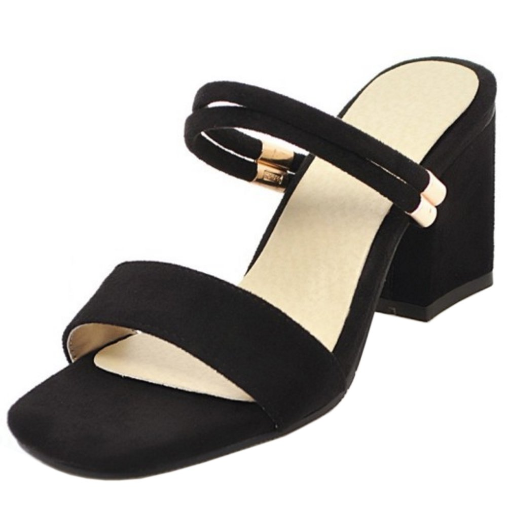 AicciAizzi Women Simple Block Heel Sandals