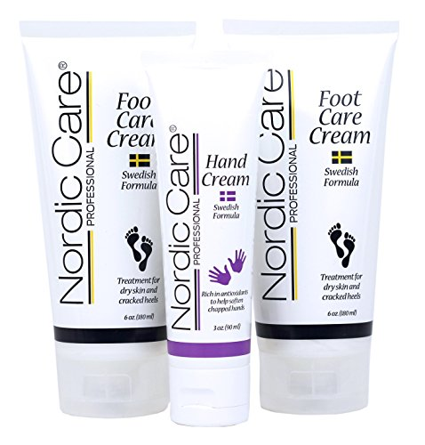 Nordic Care Foot Care Cream 6 oz. (Pack of 2) Plus Hand Cream