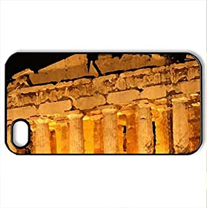 Parthenon at night - Case Cover for iPhone 4 and 4s (Ancient Series, Watercolor style, Black)