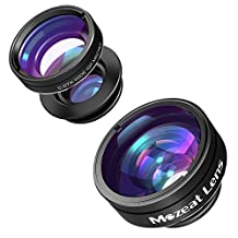 Cell Phone Camera Lens Kit, 3 in 1 Clip-On Lens, 180°Supreme Fisheye + 0.67X Wide Angle + 10 X Macro Lensfor iPhone 6, 6S, 6 Plus, Samsung, Android, Windows Phone, with Cleaning Cloths & Carrying Bag