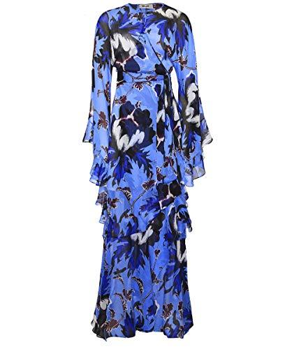 Diane von Furstenberg Women's Silk Lizella Maxi Dress Blue M Diane Von Furstenberg Silk Dress