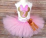 Pink & Gold Minnie Tutu Set, Minnie Mouse Tutu