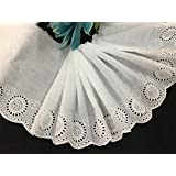 Shoppy Star DIY Handmade Patchwork Cotton Fabric lace White Cotton Embroidery lace 18CM