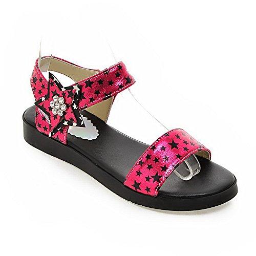 Urethane BalaMasa Sandals Studded Womens ASL05117 Flats Lining Mini Size Red Cold YqYZra8