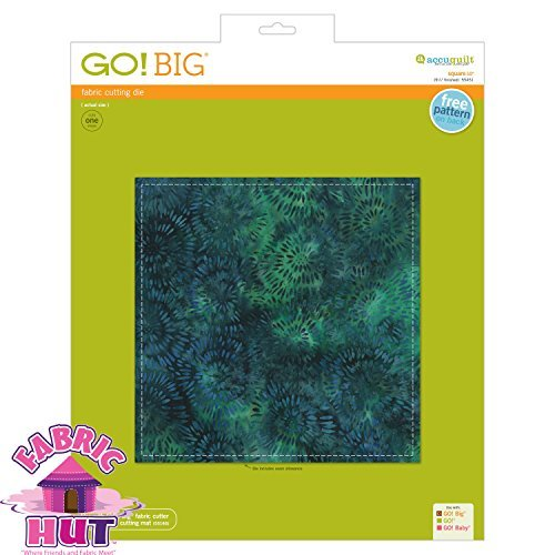 GO! Big 10'' Square Fabric Cutting Die by Fabric Hut
