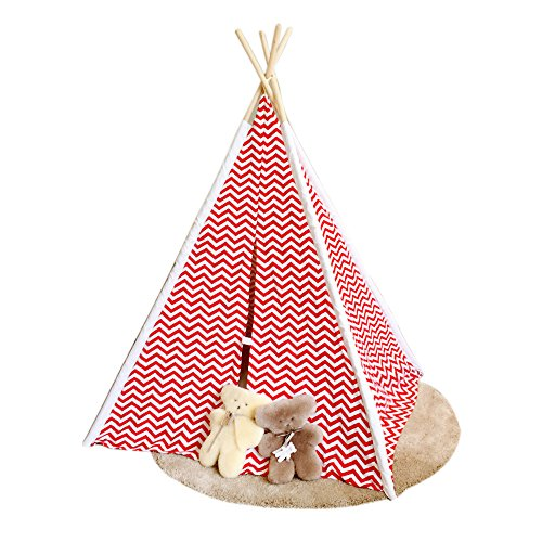Tent Cottage Kids Furniture (BigBigWORLD Children Teepee Play Tent with Carry Bag)