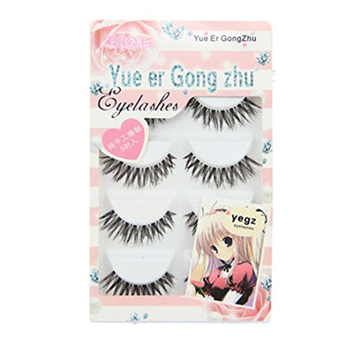 NewKelly Big sale! 5 Pair/Lot Crisscross False Eyelashes Lashes Voluminous HOT eye lashes