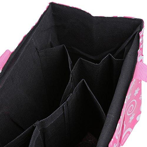 Multifunción bebé pañal pañales bolsa flores impresión impermeable separado Mummy bolso de mano rosa rosa rosa