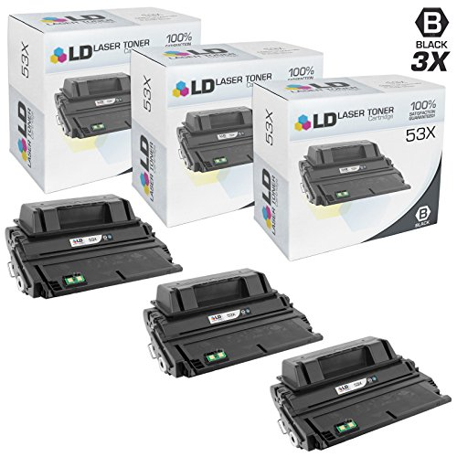LD Compatible Toner Cartridge Replacement for HP 53X Q7553X High Yield (Black, 3-Pack)