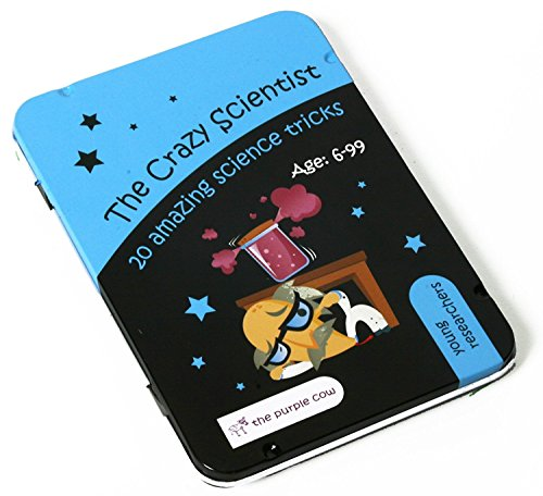 (The Purple Cow - The Crazy Scientist 'Young Researchers' Set of 20 Science Experiments and Learning, Cards Game for boys and girls aged 6 and older, instructions inside – amazing)