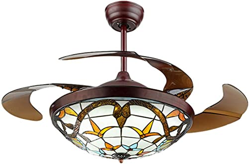 Fandian 42 Tiffany Style Ceiling Fan