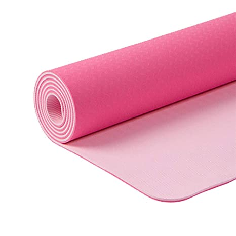Urvigor Yoga Mat with Rubber Base, Non Slip Yoga Mat, Eco-Friendly and Wet-Grip Surface, Perfect for Hot Yoga, Pilates and Exercise, Includes Free ...