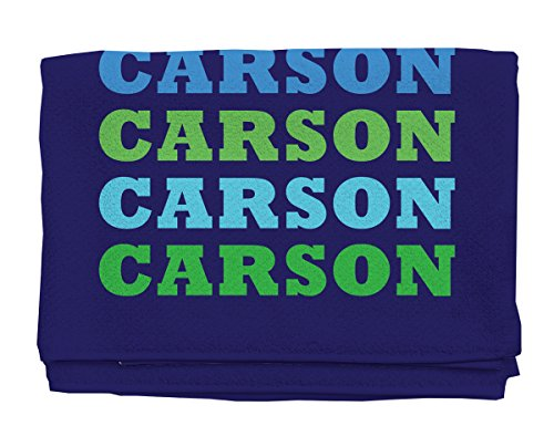 Name In Brights Navy Boy Personalized Beach Towel | Kids Towels | Custom Camp Towels | Custom Printed Towel | Monogrammed Pool Towel