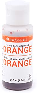 LorAnn Orange Liquid Food Color, 1 Ounce Squeeze Bottle
