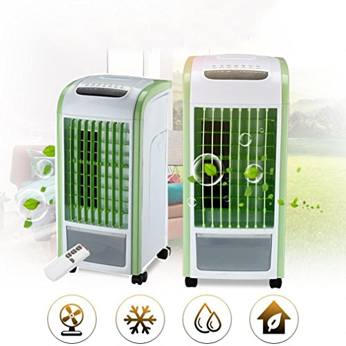 4in 1 Air Cooler - UMFun 4 in 1 Air Cooler Green With Remote Control Fan Humidifier and Air Freshener Air Cooler