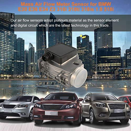 Foreverharbor Durabilidad de confiabilidad Sensor de medidor de Flujo de Aire masivo MAF 0.1 (m3 / h) para BMW E30 E36 E34 Z3...