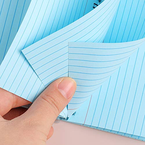 Koogel 400 Pieces Index Card, 3 x 5 Inch Colorful Learning Card Note Cards 8 Pack of Colorful Paper Ring Index Cards Bulk Index Cards for Home School Office