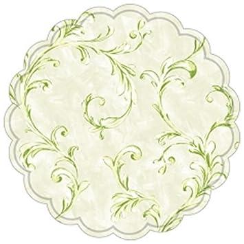 4 Filz Untersetzer rund Ø ca 10 cm Tassenuntersetzer Glasuntersetzer weiß