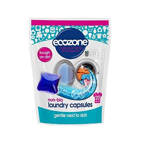 非バイオランドリーカプセルパックあたり20 (Ecozone) (x 6) - Ecozone Non Bio Laundry Capsules 20 per pack (Pack of 6) [並行輸入品] B01M18HM5T