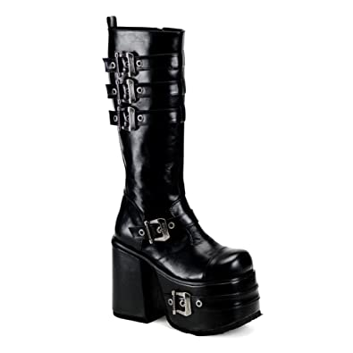 Amazon.com | 5 1/2 Inch MENS BOOTS Gothic Platform Knee High Boots ...