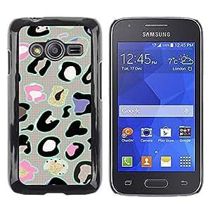 Paccase / SLIM PC / Aliminium Casa Carcasa Funda Case Cover - Animal Pattern Abstract Grey - Samsung Galaxy Ace 4 G313 SM-G313F
