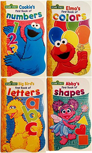 Shape Series (Sesame Street First Books Series; BIG Bird's Letters, Abby's Shapes, Elmo's Colors, Cookie's Numbers [Board Book Hardcovers, 4 Books])