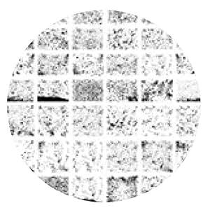 alfombrilla de ratón Gran conjunto de texturas grunge - ronda - 20cm