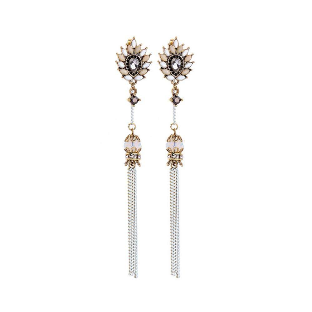 ZNYH Boucles doreilles Pompons en Perles acryliques et Diamants