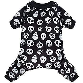CuteBone Dog Pajamas Skeleton Dog Apparel Dog Jumpsuit Pet Clothes Pajamas P11S