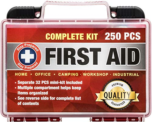 1a2ab8561 Stay Prepared 250-Piece First Aid Kit: 2-in-1 for Home