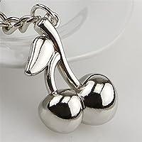 Kirsche Frucht Schlüsselanhänger Anhänger Silber aus Metall