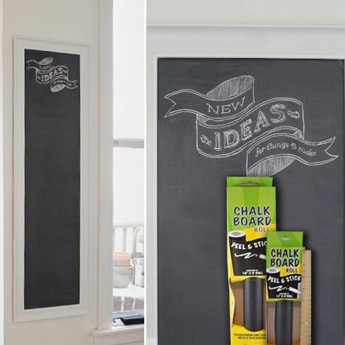 Contact Adhesive Chalk Board Paper Peel & Stick Roll 12 Inches X 4 Feet Size (Bulk Contact Paper)