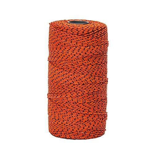 BONQG Bon 21-279 Bonded Braided Line Orange & Black, 685', Orange Black Flecks by BONQG