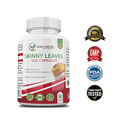 Skinny Leaves - Premium Weight Management Supplement by Herbal Care USA   100% Natural   Helps Control Appetite   Made with Garcinia Extract, Forskohlii Extract and Green Coffee Extract