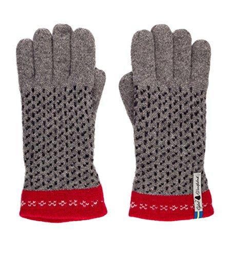 - Öjbro Swedish made 100% Merino Wool Soft Thick & Extremely Warm Gloves (Medium, Skaftö Grå)