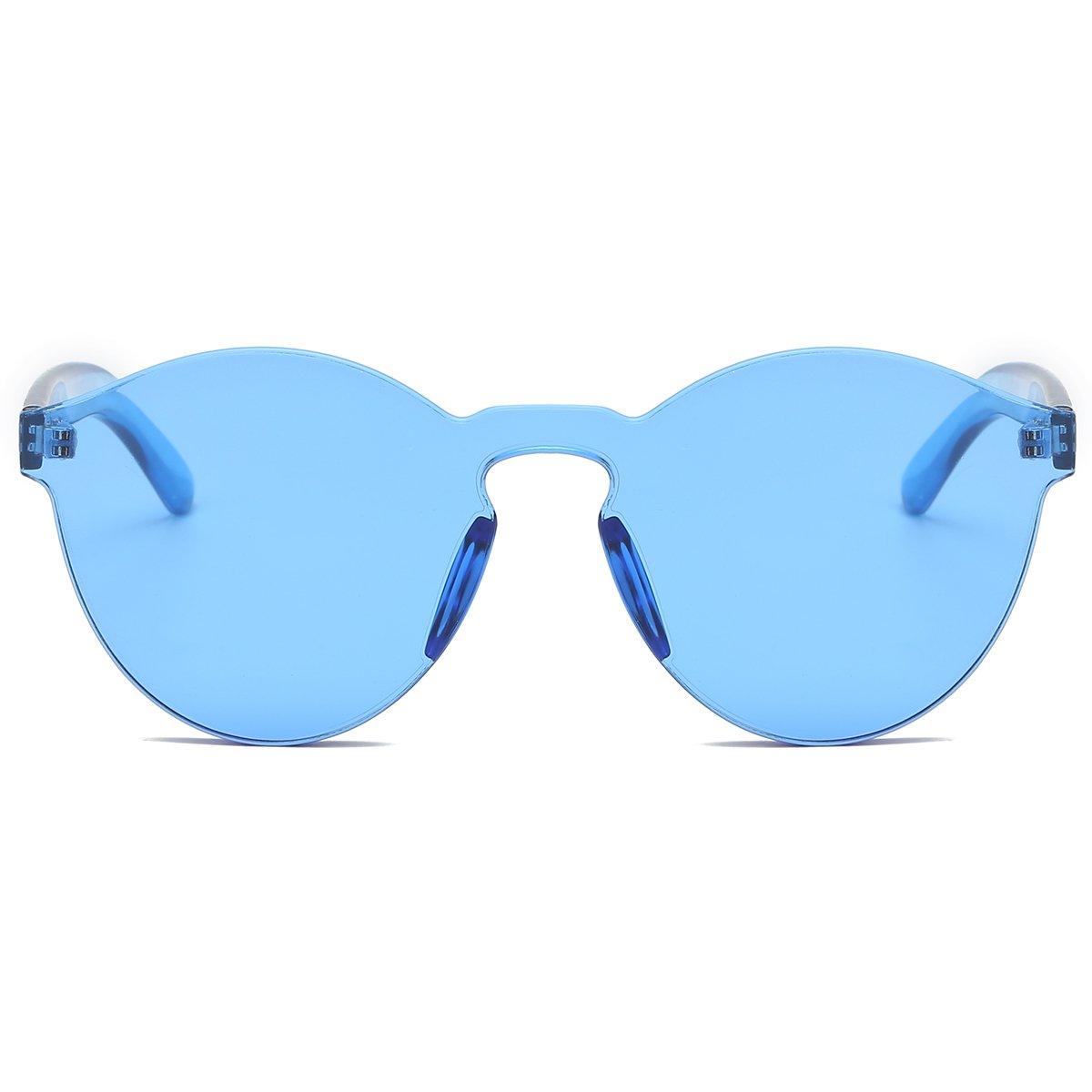 8109d5df20 LKEYE-Fashion Party Rimless Sunglasses Transparent Candy Color Eyewear  LK1737