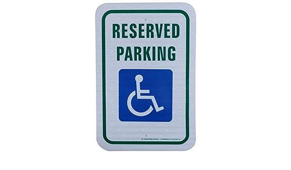 12 x 18 RK Safety Sign AL1812 EGP-12 Legend Reserved Parking Engineer Grade Reflective Aluminum Sign