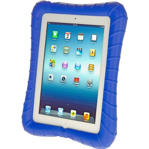 M-Edge Supershell Cover for iPad 2 and the New iPad (Blue) (M Edge Keyboard Charger)