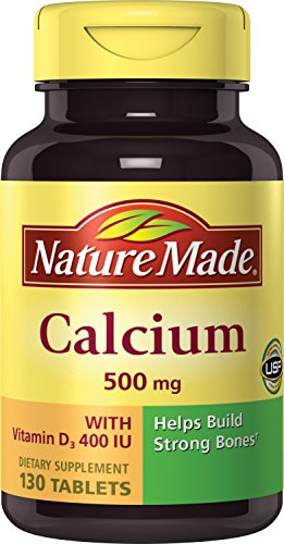 Nature Made Calcium (Carbonate) 500 mg w. Vitamin D3 400 IU Tablets 130 Ct