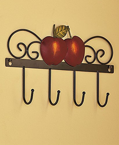 Country Kitchen Wall Hooks (Red Apple)
