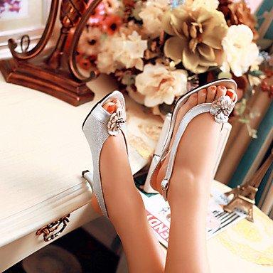 LvYuan Mujer-Tacón Stiletto-Otro-Sandalias-Vestido Informal Fiesta y Noche-PU-Negro Plata Oro Silver