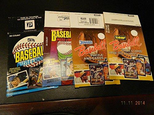 4 Lot 1985,1986,1987 Donruss, 1987 Leaf Baseball Empty Wax Pack Display Boxes