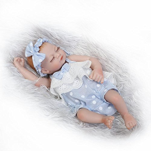 (Funny House 10 Inch 26cm Full Silicone Vinyl Real Looking Preemie Reborn Baby Dolls Lifelike Newborn Girl Doll)