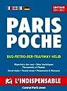 Plan de ville : Paris Poche, avec index des rues par L'Indispensable