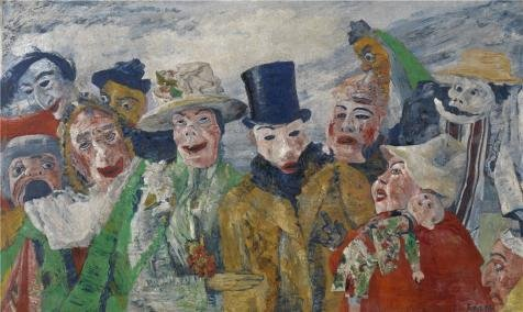 Intrigue Portfolio - Oil Painting 'James Ensor - The Intrigue,1890', 10 x 17 inch / 25 x 43 cm , on High Definition HD canvas prints is for Gifts And Bath Room, Home Office And Nursery Decoration, graph