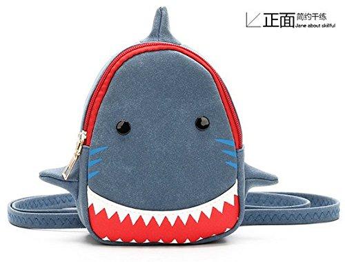 Little KidsバックパックPreschool幼児用子供バックパック3d Cartoonランチバッグ旅行Sharkパターンブックバッグアウトドアデイパック3 – 8歳の古い) B078YQ9PVF