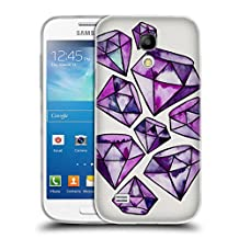 Official Cat Coquillette Amethyst Tattoos Watercoloured Gems Soft Gel Case for Samsung Galaxy S4 mini I9190